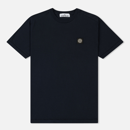Мужская футболка Stone Island Small Logo Patch Navy Blue
