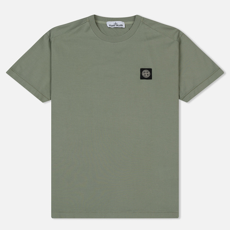 Мужская футболка Stone Island Small Logo Patch Sage Green
