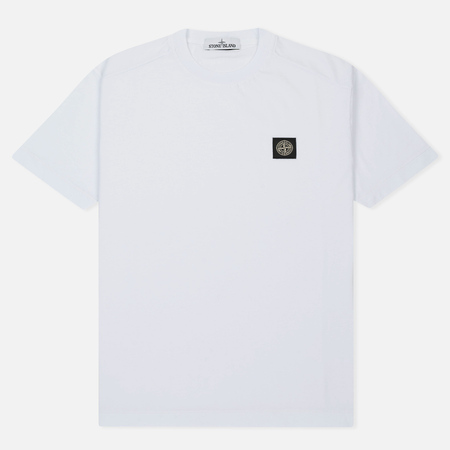 Мужская футболка Stone Island Small Logo Patch White