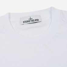 Мужская футболка Stone Island Small Logo Patch White фото- 1