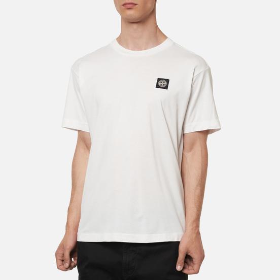 Мужская футболка Stone Island Small Logo Patch White