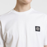 Мужская футболка Stone Island Small Logo Patch White фото- 5