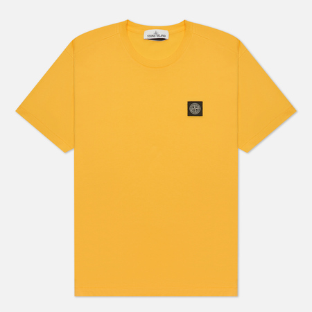 Мужская футболка Stone Island Small Logo Patch Yellow