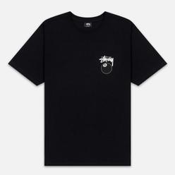 Мужская футболка Stussy 8 Ball Black/White
