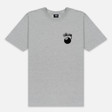 Мужская футболка Stussy 8 Ball Grey Heather/Black фото- 0