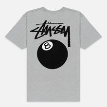 Мужская футболка Stussy 8 Ball Grey Heather/Black фото- 3