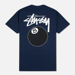 Мужская футболка Stussy 8 Ball Navy фото- 3