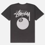 Мужская футболка Stussy 8 Ball Pigment Dyed Black фото- 4