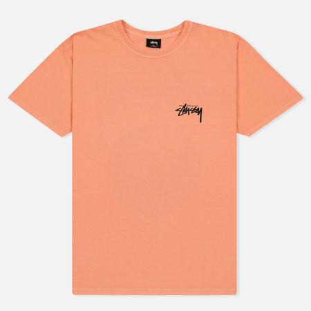 Мужская футболка Stussy 8 Ball Pigment Dyed Coral