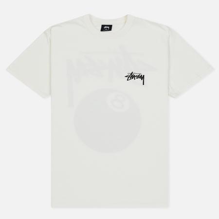 Мужская футболка Stussy 8 Ball Pigment Dyed Natural/Black