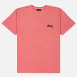 Мужская футболка Stussy 8 Ball Pigment Dyed Pink фото- 0