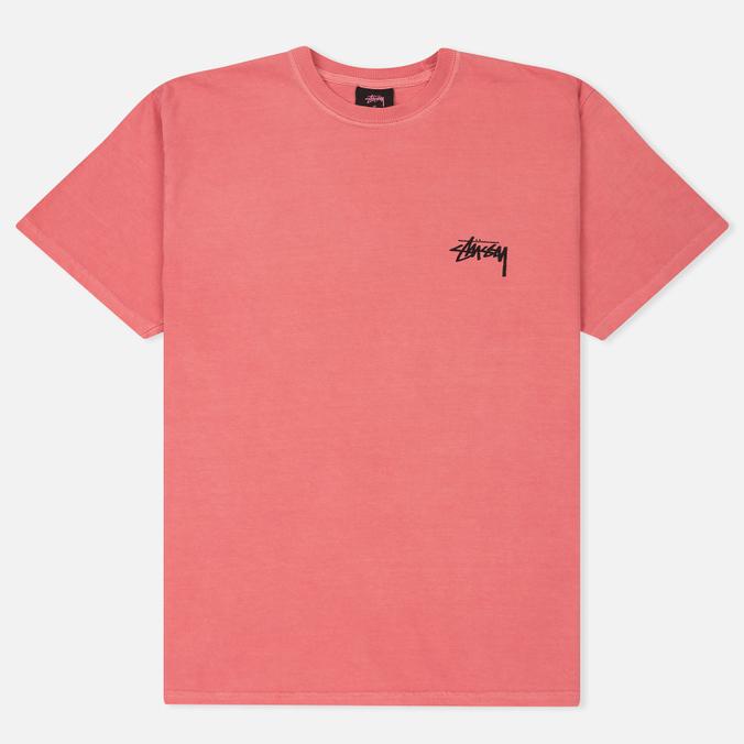 Мужская футболка Stussy 8 Ball Pigment Dyed Pink