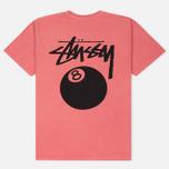 Мужская футболка Stussy 8 Ball Pigment Dyed Pink фото- 4