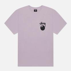 Мужская футболка Stussy 8 Ball Screenprint Pigment Dyed Lavender