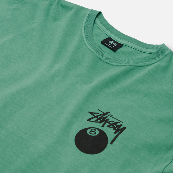 Мужская футболка Stussy 8 Ball Screenprint Pigment Dyed Moss