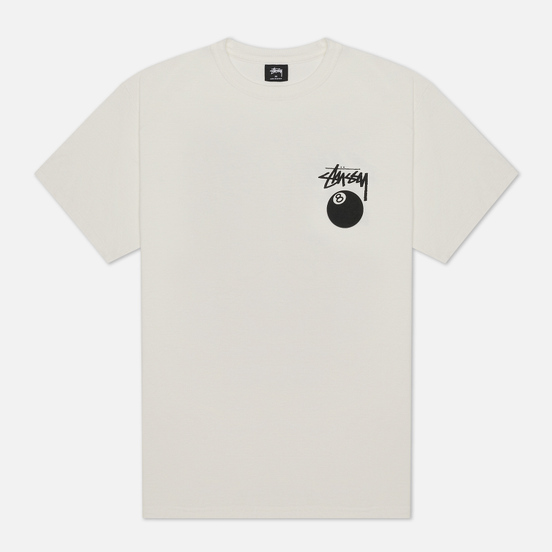 Мужская футболка Stussy 8 Ball Screenprint Pigment Dyed Natural