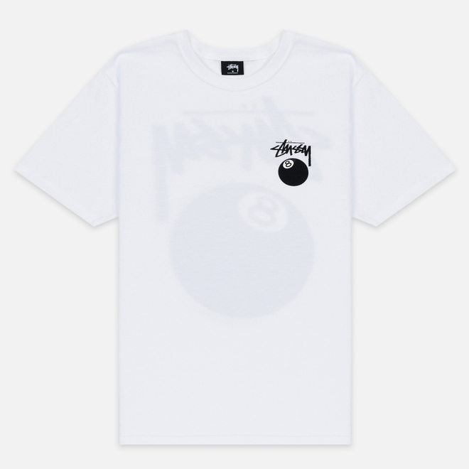 Мужская футболка Stussy 8 Ball White/Black