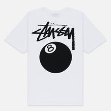 Мужская футболка Stussy 8 Ball White/Black фото- 3