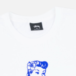 Stussy Aloha Cities Men's T-shirt LA White/Blue photo- 1