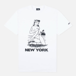 Мужская футболка Stussy Aloha Cities New York White/Black фото- 0
