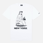 Stussy Aloha Cities New York Men's T-shirt White/Black photo- 0