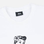 Мужская футболка Stussy Aloha Cities New York White/Black фото- 1