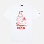 Мужская футболка Stussy Aloha Cities Paris White/Red фото- 0