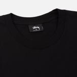 Мужская футболка Stussy Basic Black/Orange фото- 1