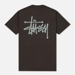 Мужская футболка Stussy Basic Charcoal фото- 3