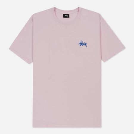 Мужская футболка Stussy Basic Light Lavender/Blue