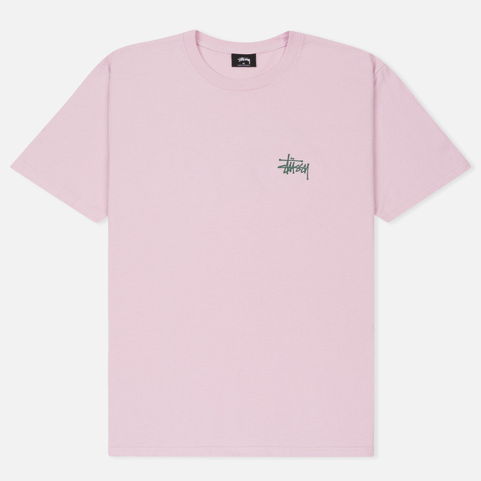Мужская футболка Stussy Basic Light Lavender/Green