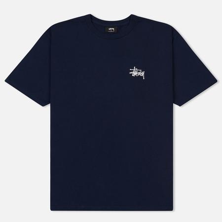 Мужская футболка Stussy Basic Navy/White