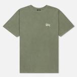 Мужская футболка Stussy Basic Pigment Dyed Olive фото- 0