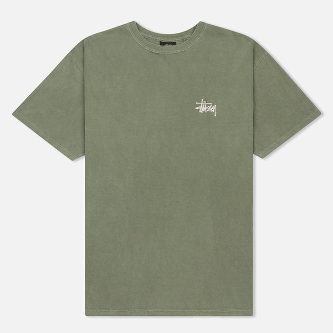 Мужская футболка Stussy Basic Pigment Dyed Olive