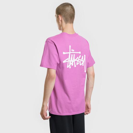 Мужская футболка Stussy Basic Stussy Berry