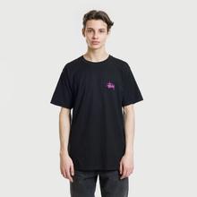 Мужская футболка Stussy Basic Stussy Black/Fuchsia фото- 2