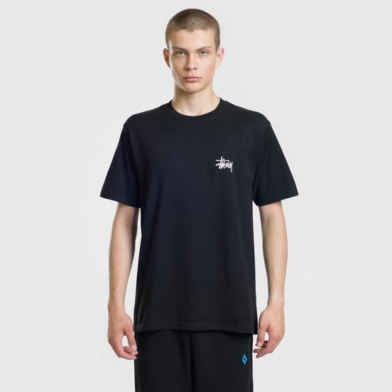 Мужская футболка Stussy Basic Stussy Black/White