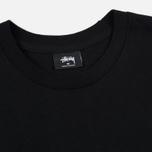 Мужская футболка Stussy Basic Stussy Crew Neck Printed Logo Black фото- 1