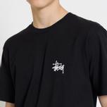 Мужская футболка Stussy Basic Stussy Crew Neck Printed Logo Black фото- 7