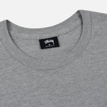 Мужская футболка Stussy Basic Stussy Crew Neck Printed Logo Grey Heather фото- 1