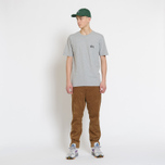 Мужская футболка Stussy Basic Stussy Crew Neck Printed Logo Grey Heather фото- 6