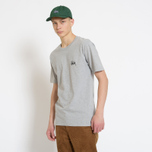 Мужская футболка Stussy Basic Stussy Crew Neck Printed Logo Grey Heather фото- 4
