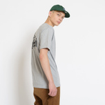 Мужская футболка Stussy Basic Stussy Crew Neck Printed Logo Grey Heather фото- 5