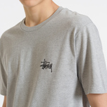 Мужская футболка Stussy Basic Stussy Crew Neck Printed Logo Grey Heather фото- 7