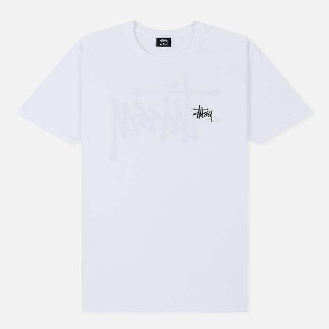 Мужская футболка Stussy Basic Stussy Crew Neck Printed Logo White