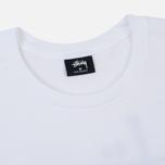 Мужская футболка Stussy Basic Stussy Crew Neck Printed Logo White фото- 1