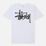 Мужская футболка Stussy Basic Stussy Crew Neck Printed Logo White фото- 3