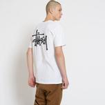 Мужская футболка Stussy Basic Stussy Crew Neck Printed Logo White фото- 6