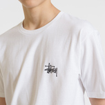 Мужская футболка Stussy Basic Stussy Crew Neck Printed Logo White фото- 8