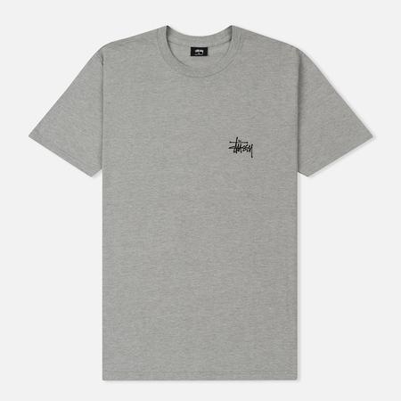 Мужская футболка Stussy Basic Stussy Grey Heather